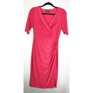 Ralph Lauren form fitting wrap top dress 6